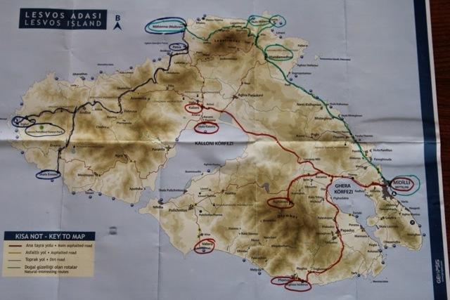 midilli adasında görülecek yerler